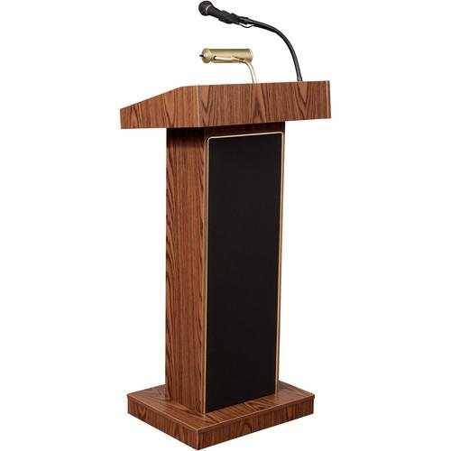 "Oklahoma Sound The Orator, 46"" High Built-in Sound Lectern #800x (Medium Oak Laminate)"