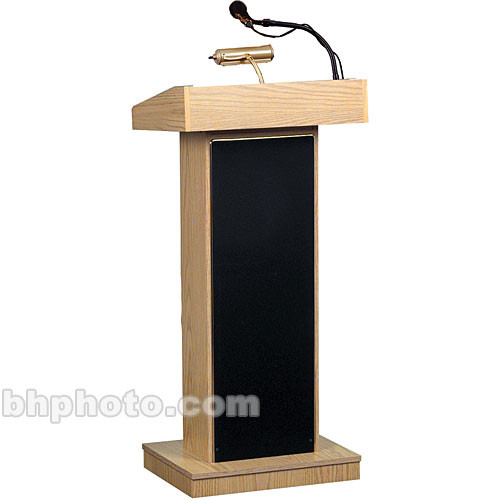 "Oklahoma Sound 46"" High #800x Sound Lectern (Lt. Oak  Laminate)"