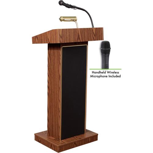 Oklahoma Sound Orator  #800x Sound Lectern (Medium Oak) w/ LWM-5