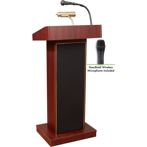 Oklahoma Sound Orator  #800x Sound Lectern (Mahogany) w/ LWM-5