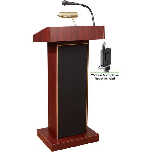 Oklahoma Sound Orator  #800x Sound Lectern (Mahogany) w/ LWM-6