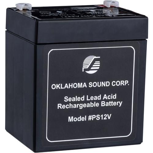Oklahoma Sound PS12V 12V/5amp Rechargeable Battery Pack (Black)