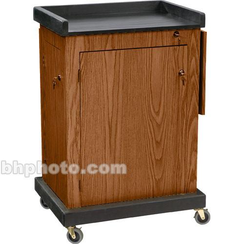 Oklahoma Sound Smart Cart Lectern (Medium Oak)