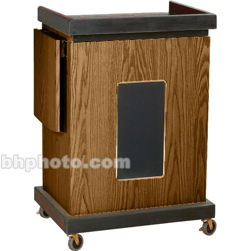 Oklahoma Sound Smart Cart Lectern with Sound System (Medium Oak)