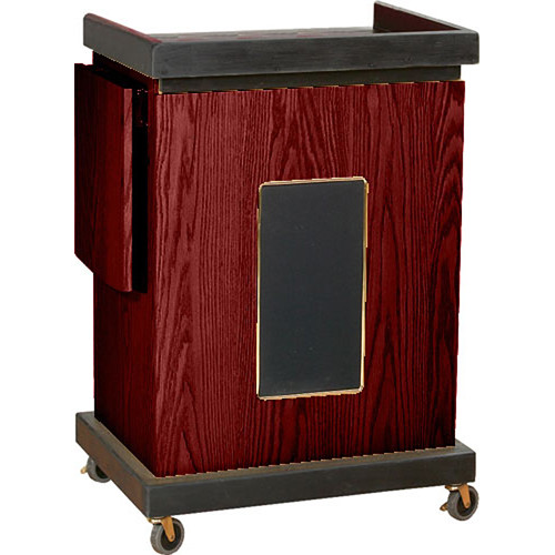 Oklahoma Sound Smart Cart Lectern with Sound System (Mahogany)