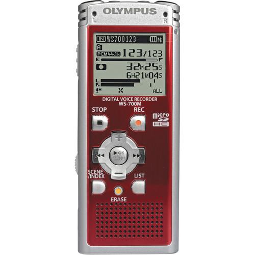 Olympus WS-700M Digital Voice Recorder (Red)