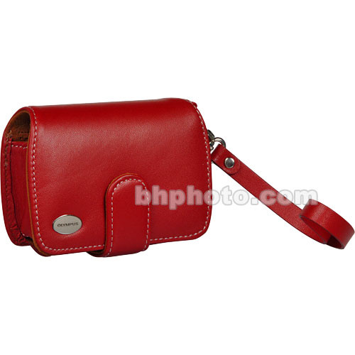 Olympus Premium Slim Leather Case (Red)