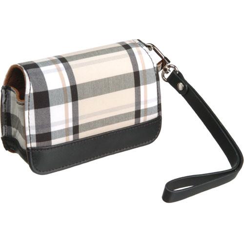 Olympus Premium Compact Leather Case (Cream Plaid)