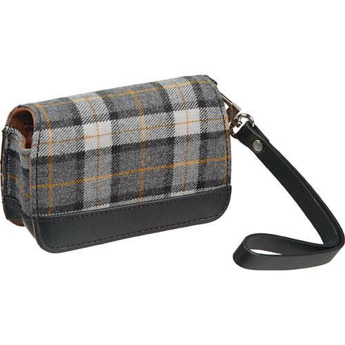 Olympus Premium Compact Leather Case (Gray Plaid)