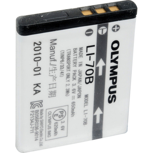 Olympus LI-70B Rechargeable Lithium-Ion Battery (650mAh)