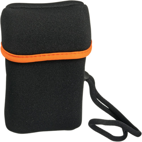 Olympus Neoprene Compact Camera Case with Wrist Strap - Black (Orange Trim)