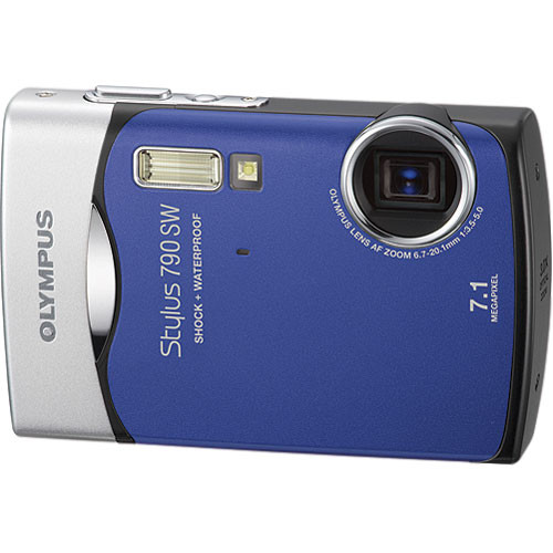 Olympus Stylus 790 SW Digital Camera (Blue)
