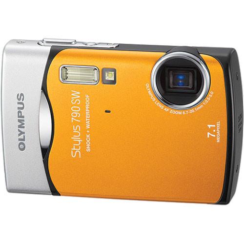 Olympus Stylus 790 SW Digital Camera (Orange)