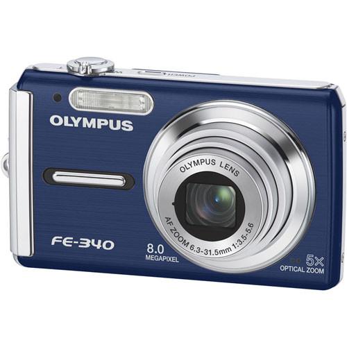 olympus fe 340 digital camera  blue  226225 b h photo video Olympus Fe 5000 Olympus Fe 4000