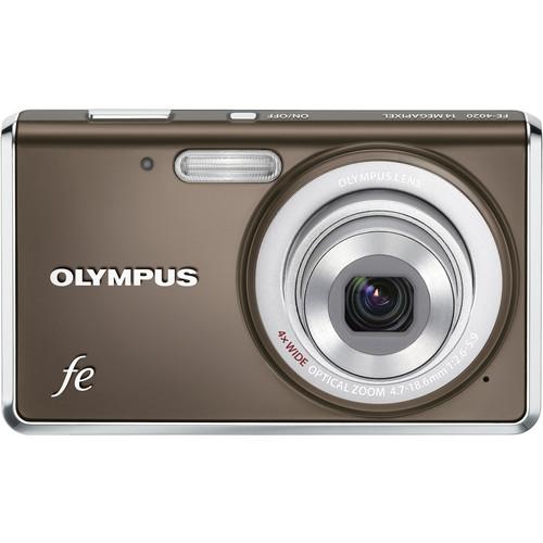 Olympus FE-4020 Digital Camera (Warm Gray)