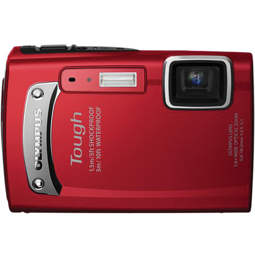 Olympus TG-310 Digital Camera (Red)