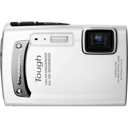 Olympus TG-310 Digital Camera (White)