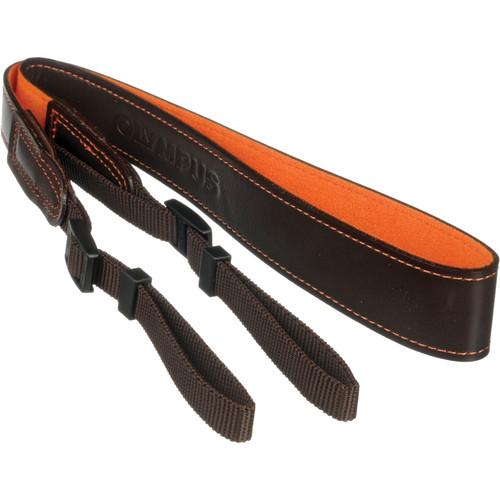 Olympus Leather Neck Strap (Dark Brown)