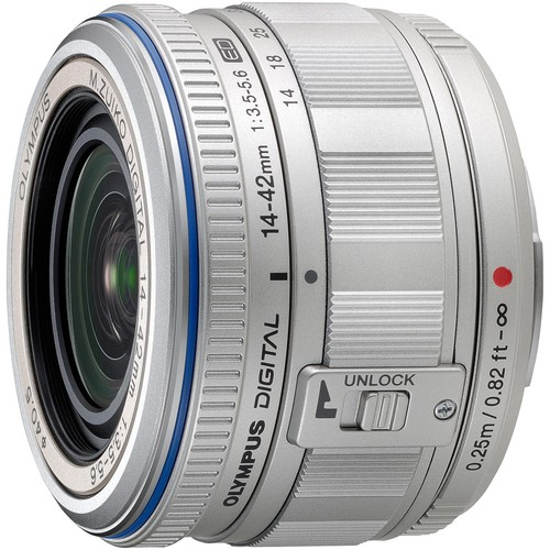 Olympus M.ZUIKO Digital ED 14-42mm f/3.5-5.6 Micro 4/3 Zoom (Silver)