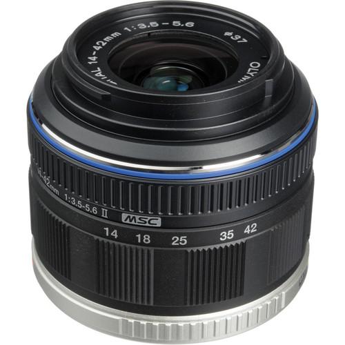 Olympus M. Zuiko Digital ED 14-42mm f/3.5-5.6 II Micro 4/3 Lens (Black)