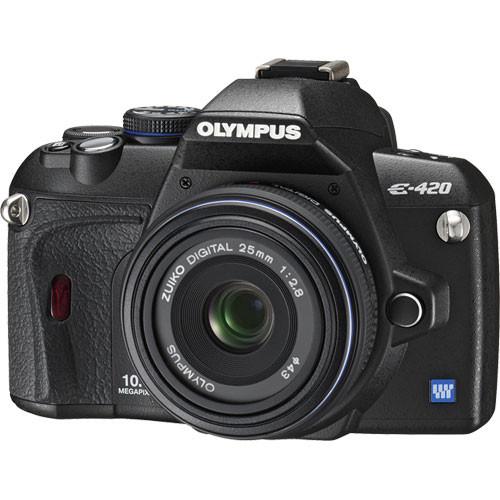 Olympus E-420 SLR Digital Camera Kit with 25mm Lens