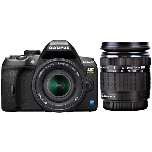 Olympus E-System E-620 SLR Digital Camera with 14-42mm & 40-150mm Zoom Lenses