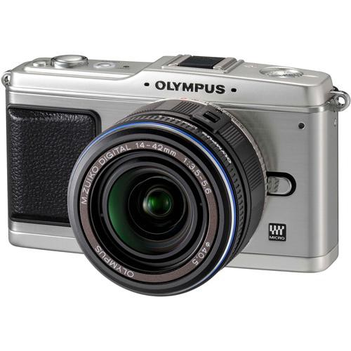 Olympus E-P1 Pen Digital Camera (Silver) w/ 14-42mm M.Zuiko Digital Lens (Black)