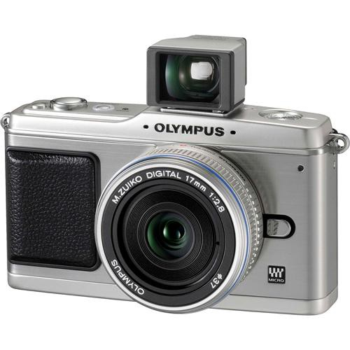 Olympus E-P1 Pen Digital Camera w/ 17mm f/2.8  Lens (Silver) & Optical Finder