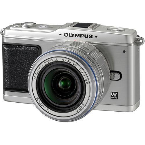 Olympus E-P1 Pen Digital Camera (Silver) w/ 14-42mm M.Zuiko Digital Lens (Silver)