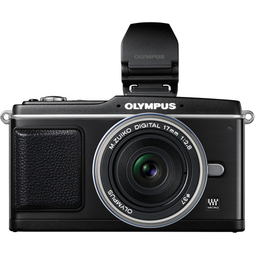 Olympus E-P2 Pen Digital Camera  w/  17mm f/2.8 Zuiko Lens & Electronic Viewfinder (Black)
