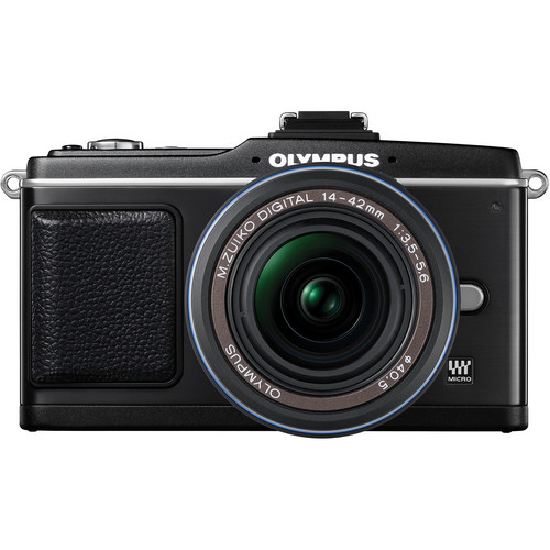 Olympus E-P2 Pen Digital Camera w/ 14-42mm Zuiko Lens (Black)