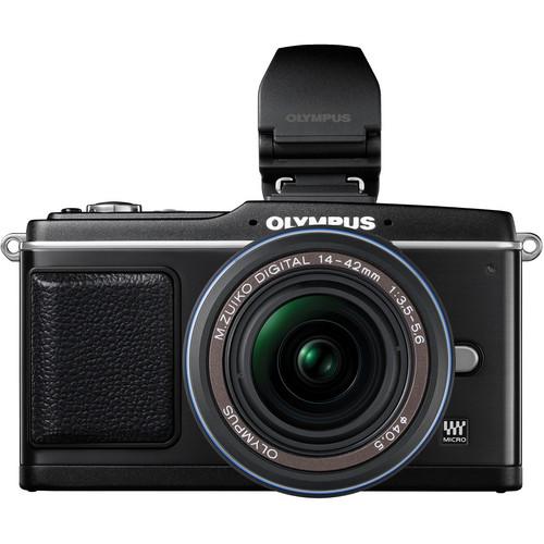 Olympus E-P2 Pen Digital Camera  w/ 14-42mm Zuiko Lens & Electronic Viewfinder (Black)