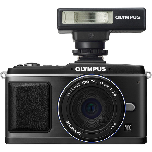 Olympus E-P2 Digital Camera W/17mm Lens & Flash (Black)