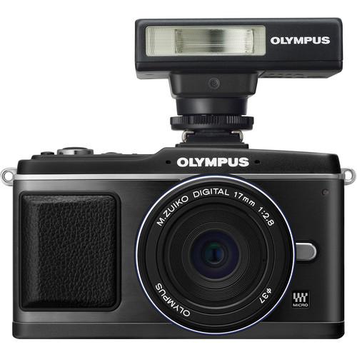 Olympus E-P2 Digital Camera W/17mm Lens & Flash (Black)