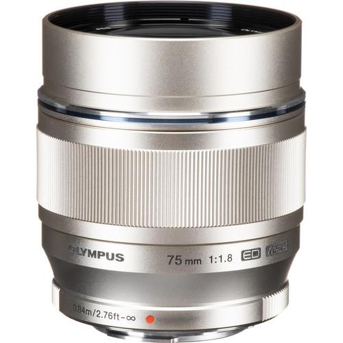 Olympus M.Zuiko Digital ED 75mm f/1.8 Lens (Silver)