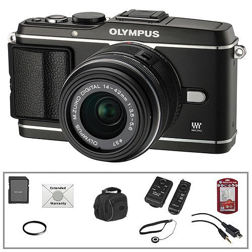 Olympus E-P3 PEN Digital Camera & 14-42mm Lens (Black) with Basic Accessory Kit