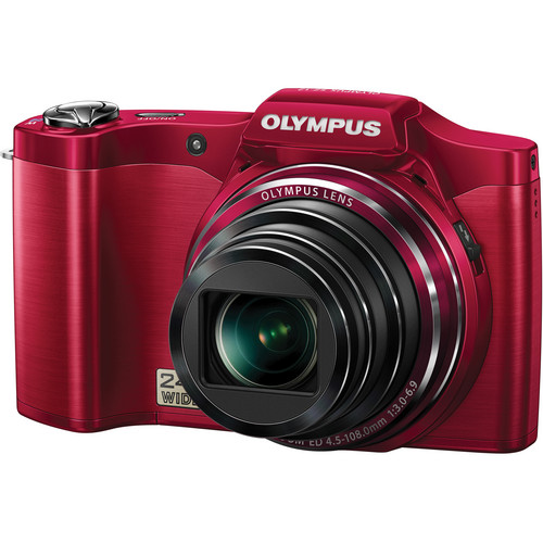 Olympus SZ-12 Digital Camera (Red)