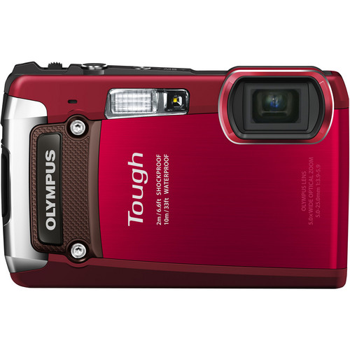 Olympus Tough TG-820 iHS Digital Camera (Red)