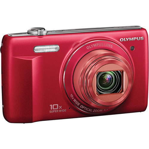 Olympus VR-340 Digital Camera (Red)