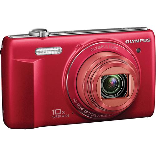 Olympus VR-340 Digital Camera (Red)