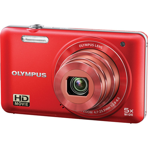 Olympus VG-160 Digital Camera (Red)