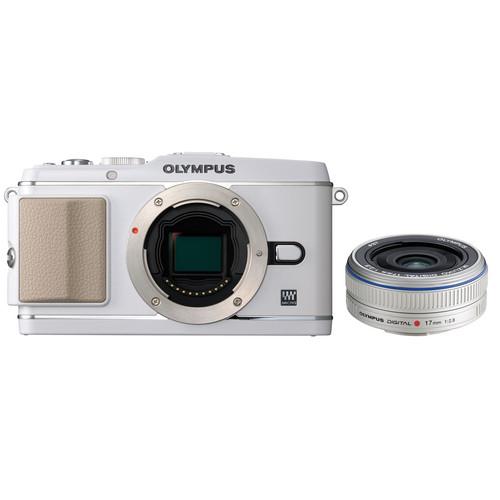 Olympus E-P3 PEN Digital Camera with 17mm Lens (White)