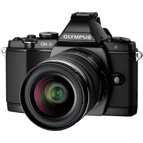 Olympus OM-D E-M5 Mirrorless Micro Four Thirds Digital Camera with 12-50mm Lens (Black)