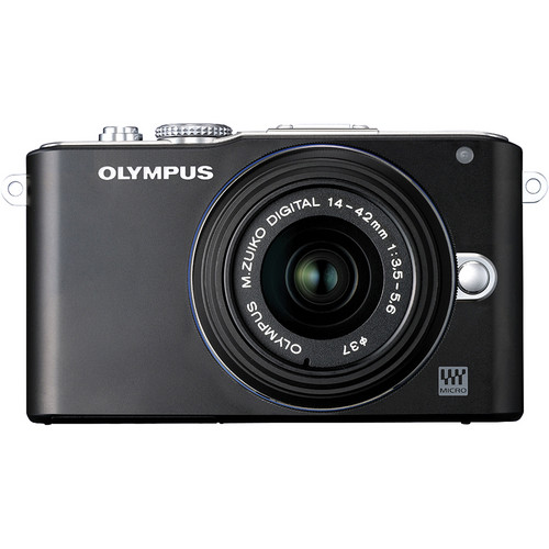 Olympus E-PL3 Mirrorless Micro Four Thirds Digital Camera with 14-42mm II f/3.5-5.6 Lens (Black)
