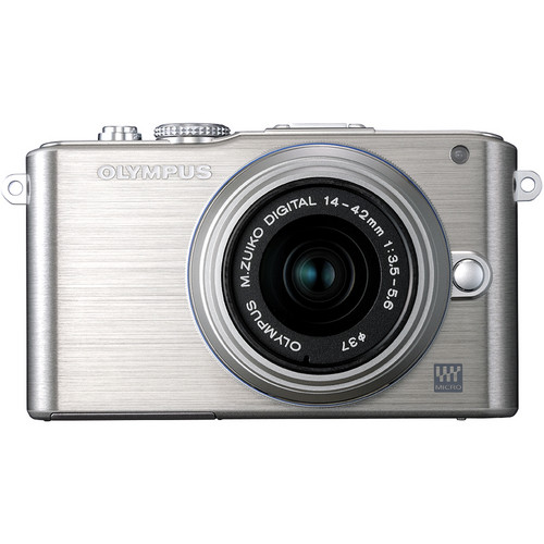 Olympus E-PL3 Mirrorless Micro Four Thirds Digital Camera with 14-42mm II f/3.5-5.6 Lens (Silver)