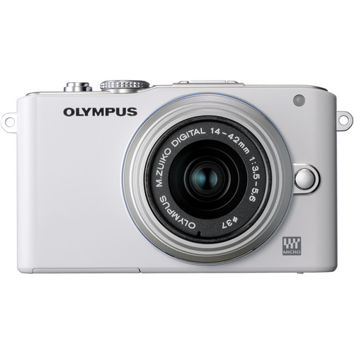 Olympus E-PL3 Mirrorless Micro Four Thirds Digital Camera with 14-42mm II f/3.5-5.6 Lens (White)