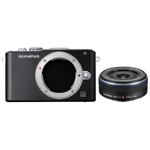 Olympus E-PL3 Mirrorless Micro Four Thirds Digital Camera with 17mm f/2.8 Lens (Black)