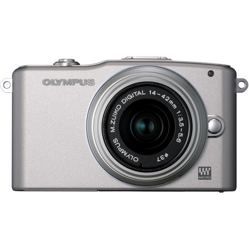 Olympus E-PM1 Mirrorless Micro Four Thirds Digital Camera with 14-42mm II Lens (Silver)