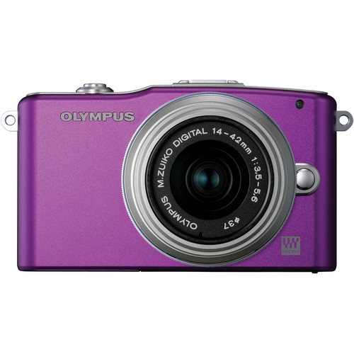 Olympus E-PM1 Mirrorless Micro Four Thirds Digital Camera with 14-42mm II Lens (Purple)