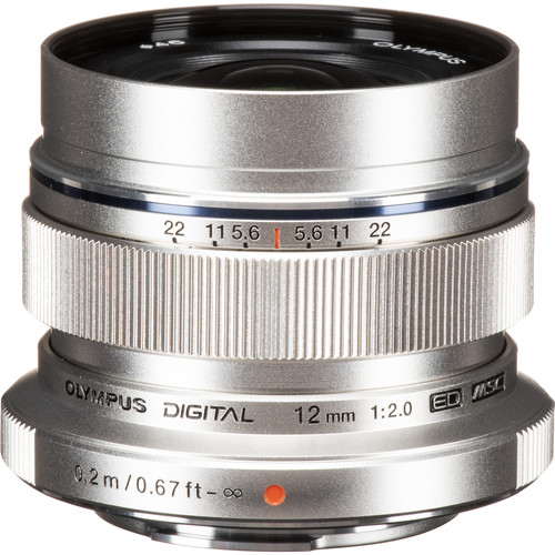 Olympus M.Zuiko Digital ED 12mm f/2 Lens (Silver)